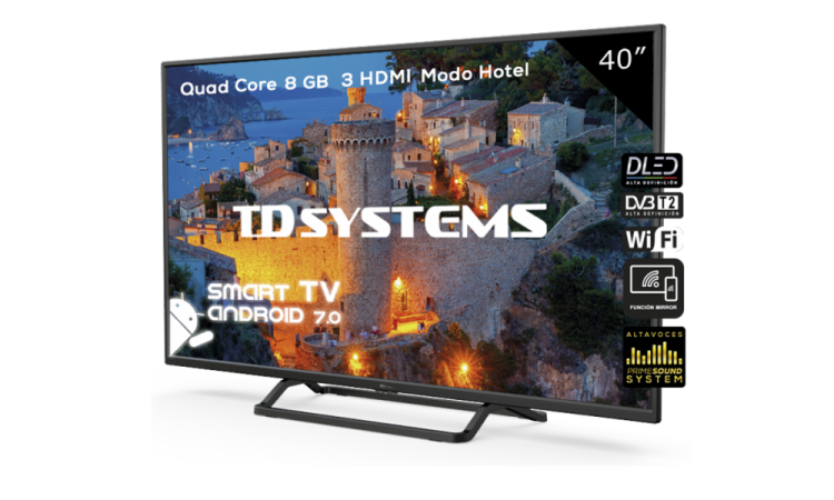 "Televisor 40"" Led Full HD Smart TD Systems"